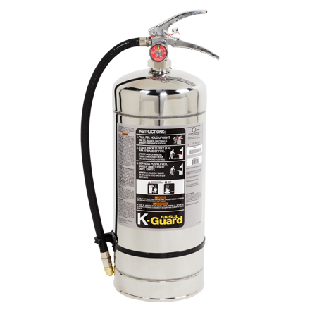 Non-Magnetic Stored-Pressure De-Ionized Water Mist Fire Extinguisher